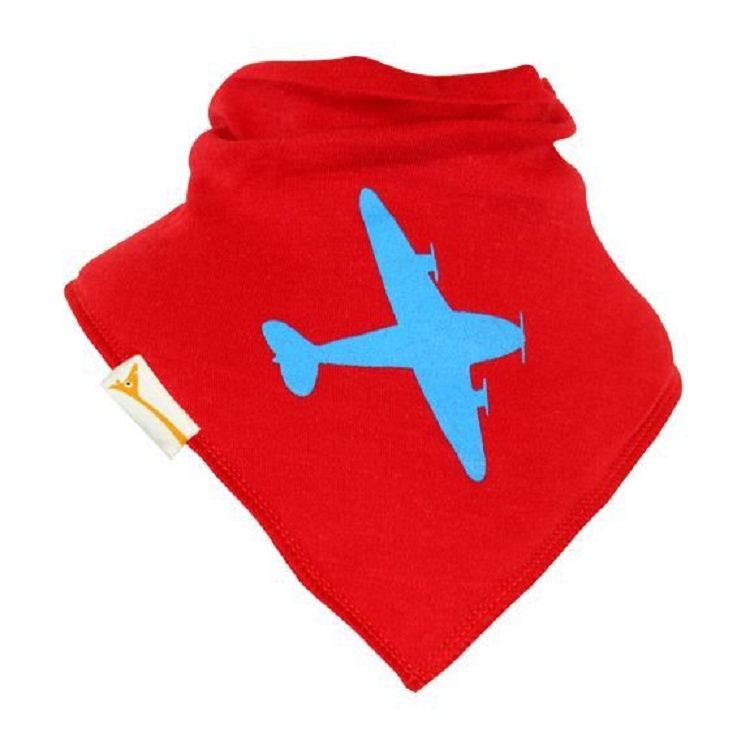 Bavoir Bandana I Bavouille I can fly Rouge