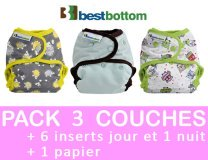 MINI PACK 3 COUCHES LAVABLES TE2 pressions BEST BOTTOM