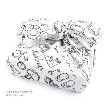furo 39 chic colorier bord de mer paquet cadeau en tissu r utilisable maman natur 39 elle. Black Bedroom Furniture Sets. Home Design Ideas