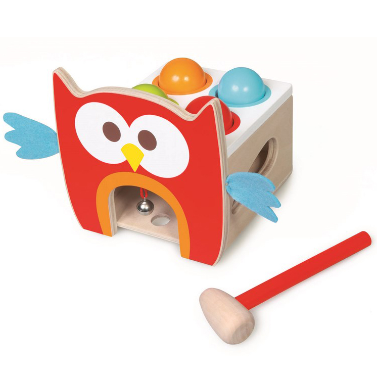 Bo�te � formes Toc Toc Hibou SCRATCH EUROPE
