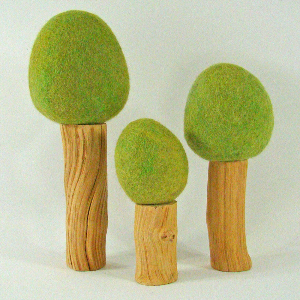 Arbres de printemps Rainbow - set de 3
