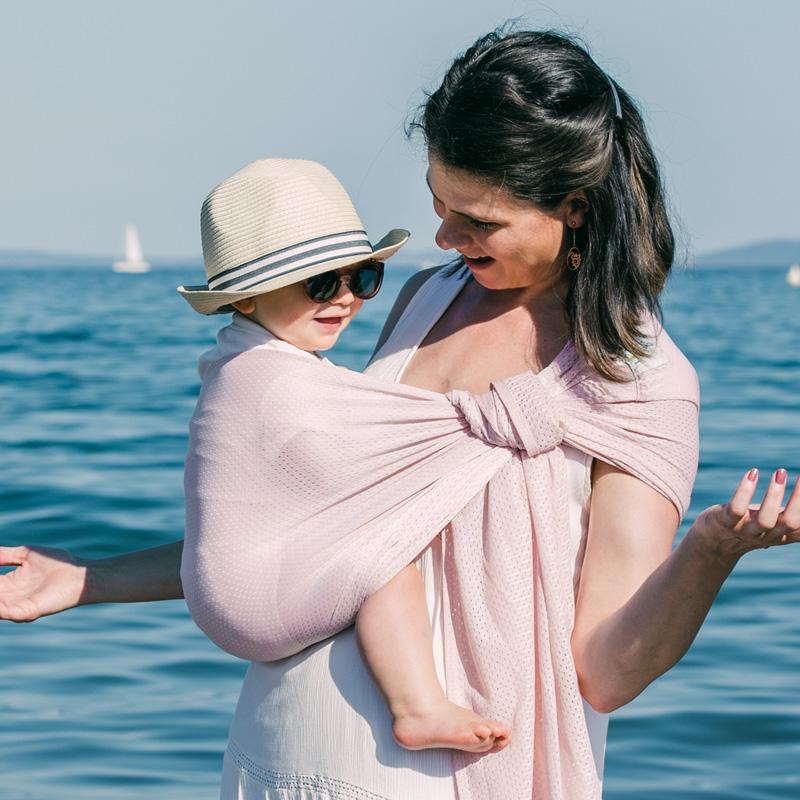 Porte-bébé Sling SUKKIRI Rose Pâle