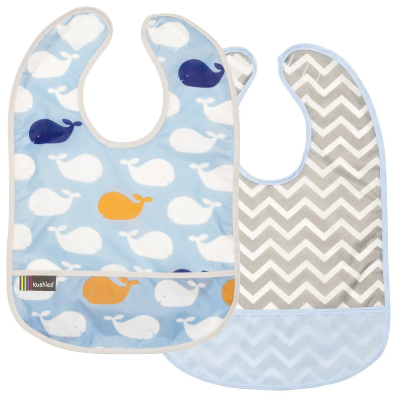 Lot de 2 Bavoirs Kushies 6-12 mois Blue