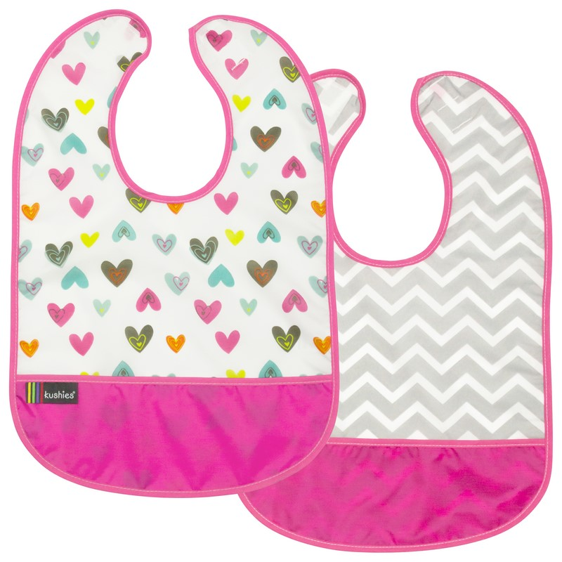 Lot de 2 Bavoirs Kushies 12-36 mois Pink