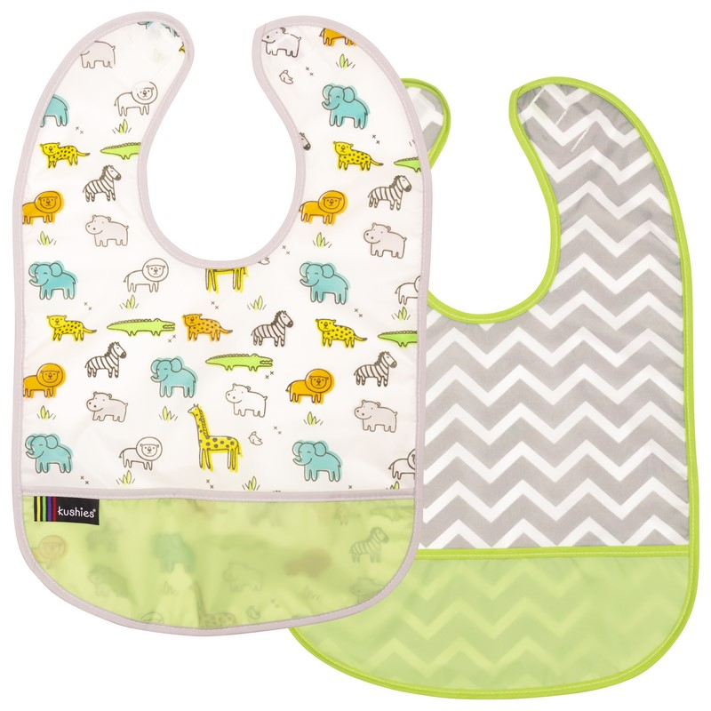 Lot de 2 Bavoirs Kushies 6-12 mois Green