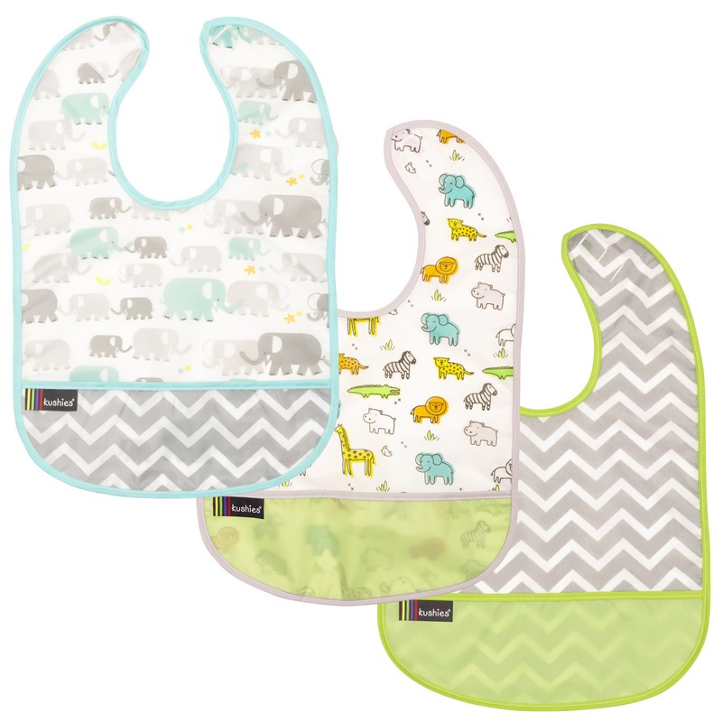 Lot de 3 Bavoirs Kushies 12-36 mois Green