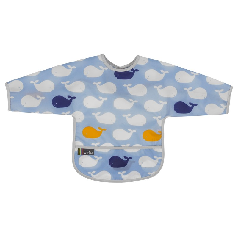 Bavoir Manches longues Kushies 2-4 ans Whales