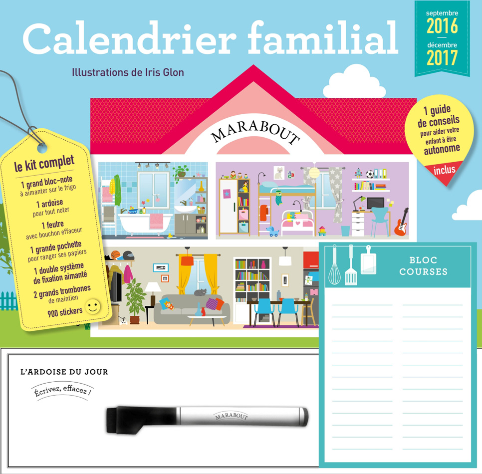 Calendrier familial 2016/2017 MARABOUT