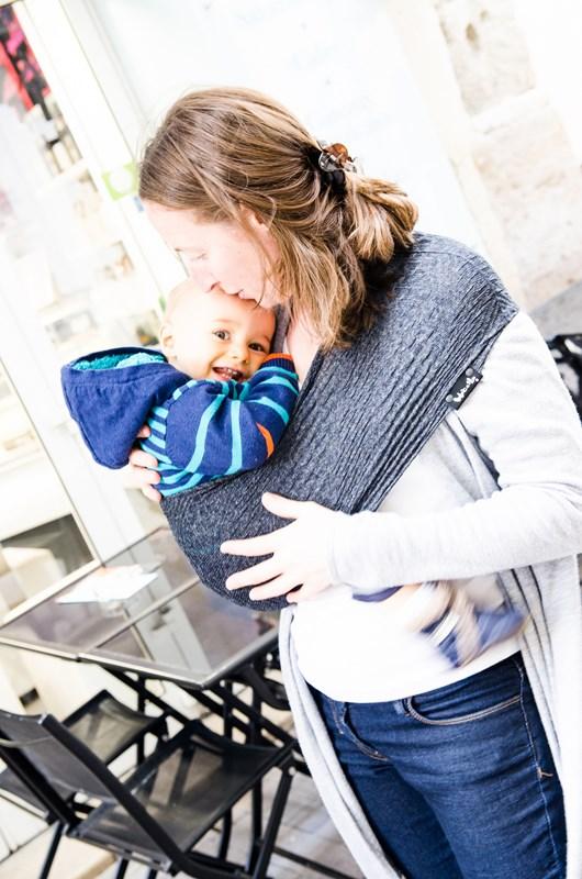 0ad7eb821151 Porte-bébé Sling Tube WACOTTO Gris - Maman Natur elle