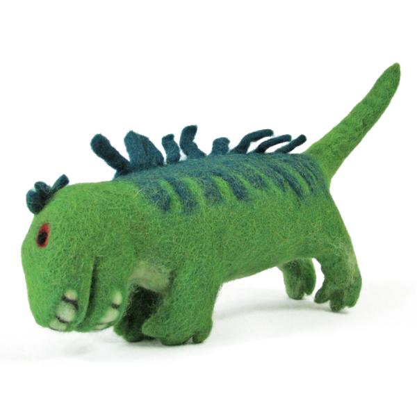 Monde des Dinosaures en laine feutrée - Dufus le dinosaure