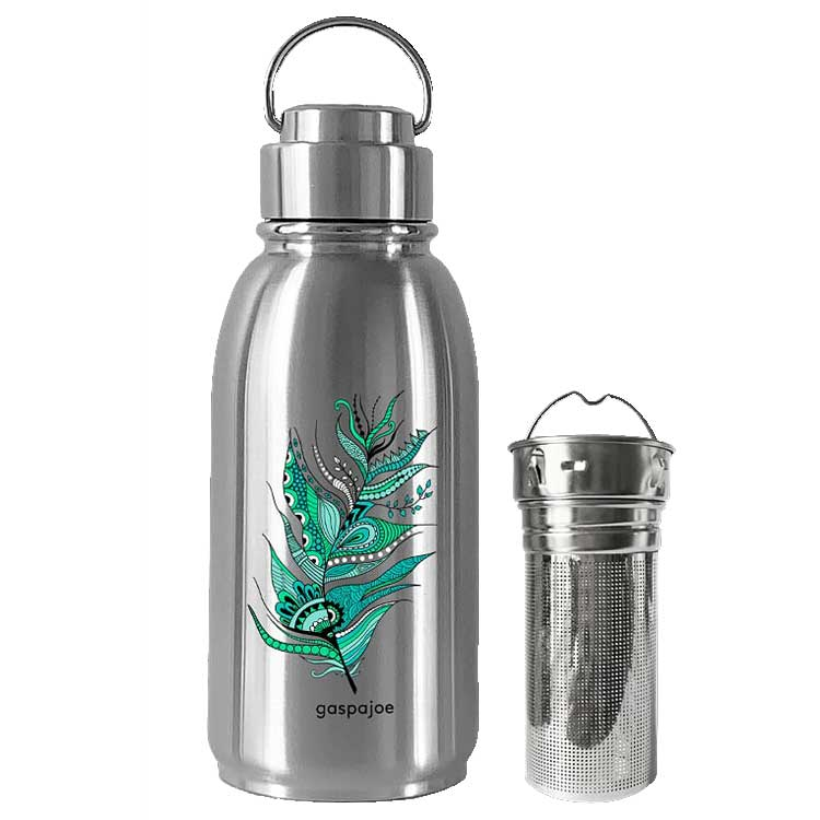 Pack gourde en inox Friendly Plume et son infuseur