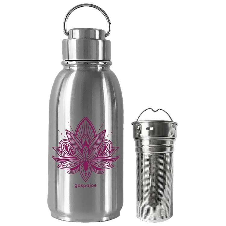 Pack gourde en inox Friendly Lotus et son infuseur
