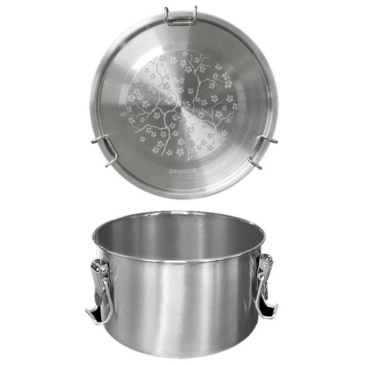 Lunch box inox Drummy 1100 ml Cerisier