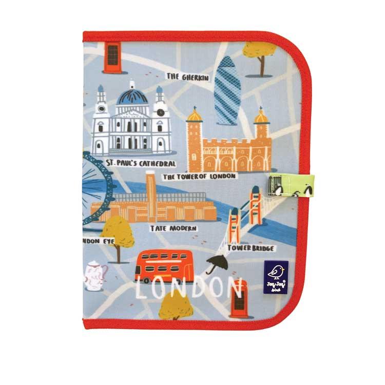 Ardoise pliable CITY LONDON + 4 Craies Zéro poussière