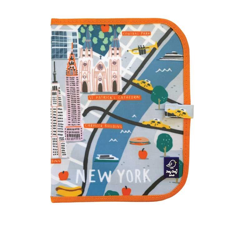 Ardoise pliable CITY NEW YORK + 4 Craies Zéro poussière