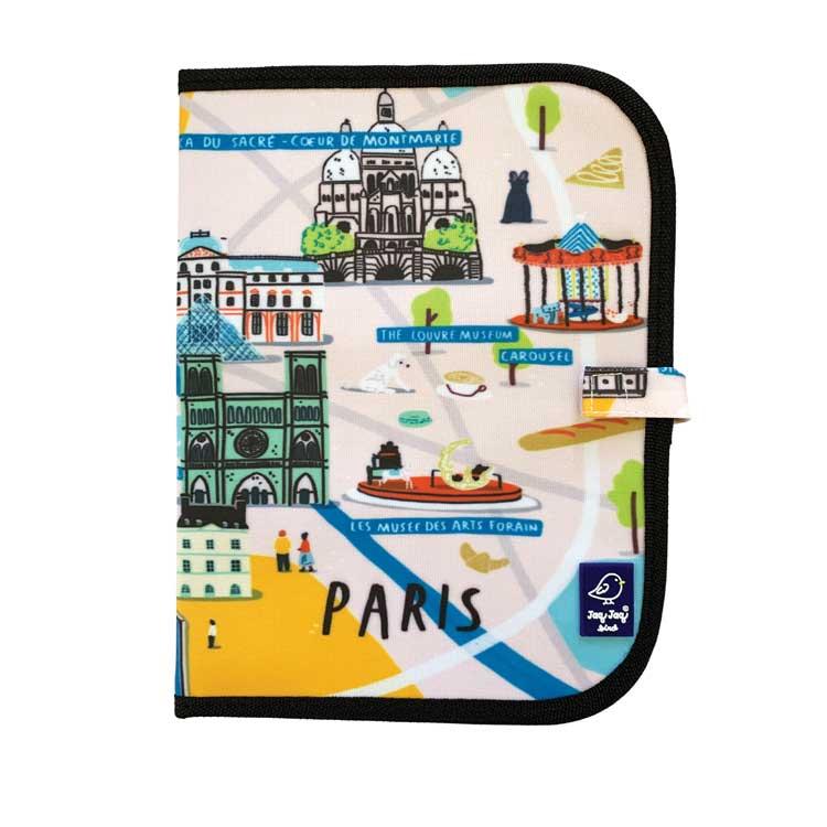 Ardoise pliable CITY PARIS + 4 Craies Zéro poussière