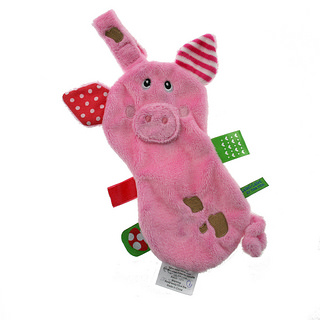 Doudou attache sucette Friends Cochon LABEL LABEL