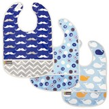 Lot de 3 Bavoirs Kushies 6-12 mois Blue