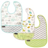 Lot de 3 Bavoirs Kushies 6-12 mois Green