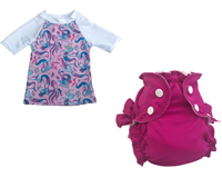 Ensemble bain tee-shirt + maillot couche Shellphone/ Berry Berry Much APPLECHEEKS