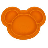 Assiette en Silicone modèle Ourson Orange KUSHIES
