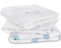 Lot de 3 petits Langes en mousseline de coton NIGHT SKY RIVERIE
