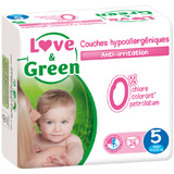Couches jetables �cologiques Love & Green Taille 5 JUNIOR 12-25kg