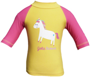 Top Anti UV et Anti sable Jaune Licorne