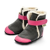 Bottines fourr�es en cuir souple Liliputi ESKIMO Black