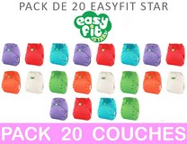 MAXI PACK 20 COUCHES LAVABLES TE1 Easyfit STAR Taille Unique TOTS BOTS