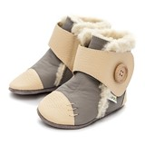 Bottines fourr�es en cuir souple Liliputi SNOWFLAKE Grey
