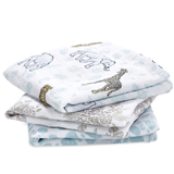 Lot de 3 petits Langes en mousseline de coton Jungle