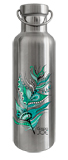 Gourde en inox 750 ml collection Groovy Plume Verte