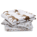 Lot de 3 petits Langes en mousseline de coton Hear me roar