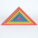 Triangles en bois Arc-en-ciel