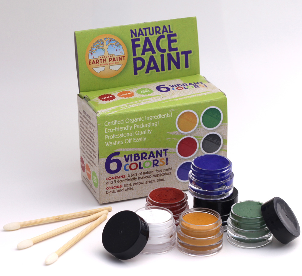 Kit maquillage naturel 6 pots Natural Earth Paint