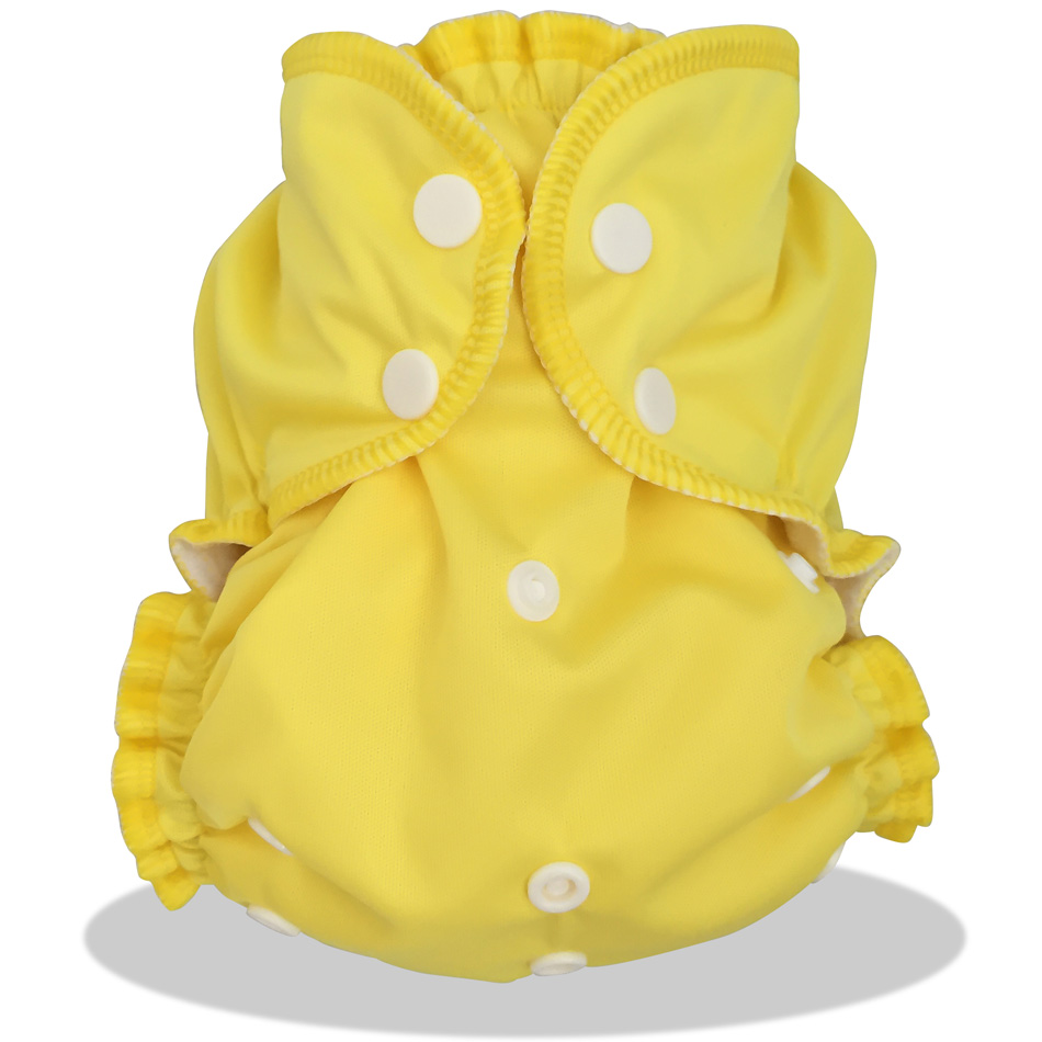 Couche lavable TE2 (Tout en 2) - Taille Unique (2.8-16kg) - Zeste de Citron