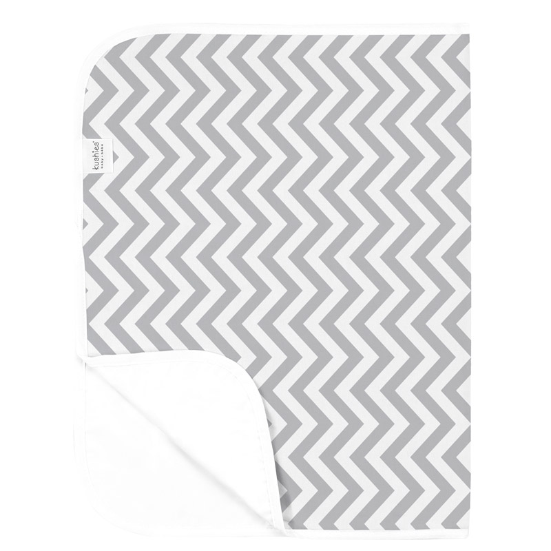 Tapis nomade KUSHIES Chevron Grey
