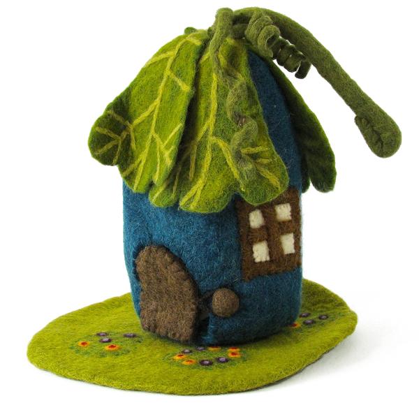 Maison et tapis en laine feutrée Chêne