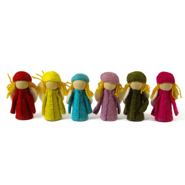 Petits Elfes en laine feutrée - set de 6