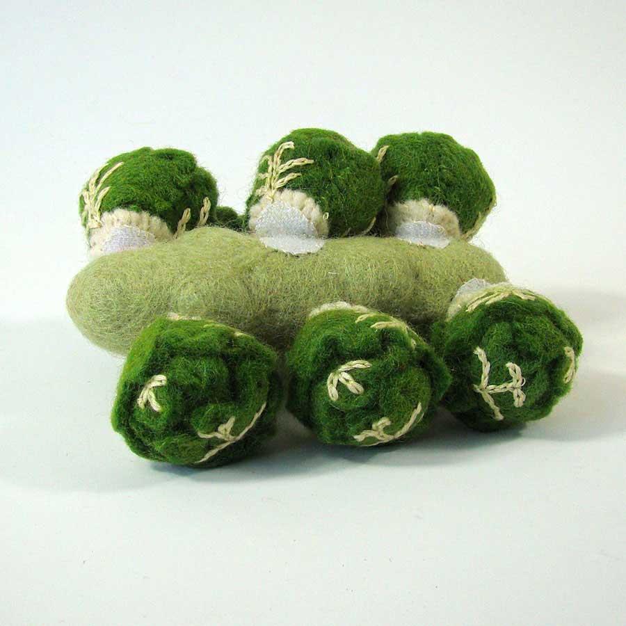 Légume en laine feutrée - Choux de Bruxelles