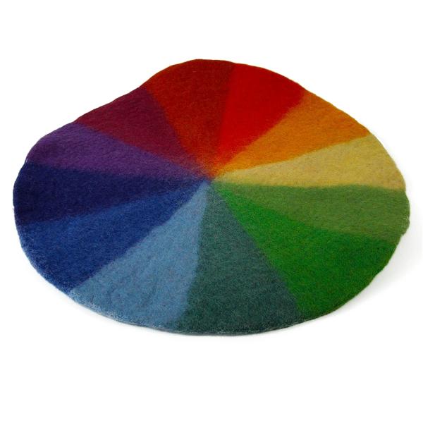 Tapis en laine feutrée Rainbow - 50 cm