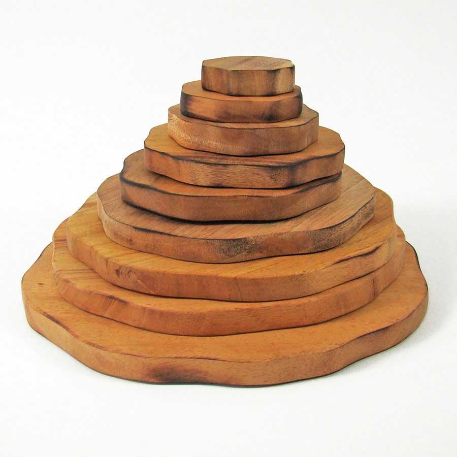 Pyramide empilable en bois - 9 pièces