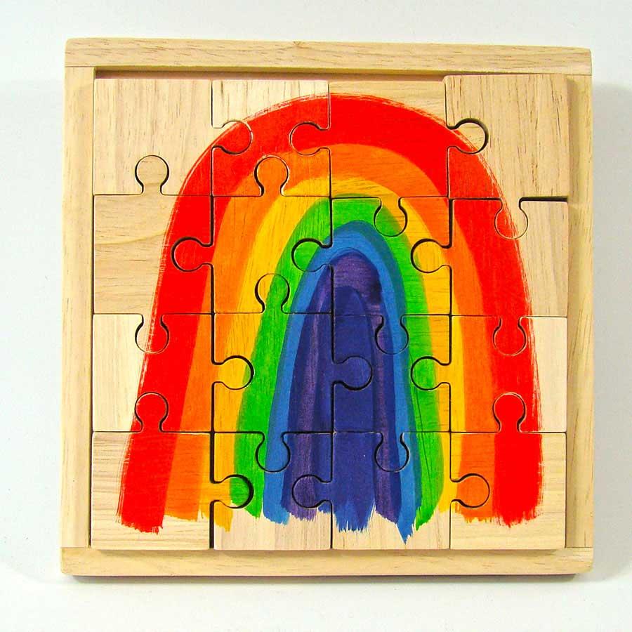 Puzzle en bois Rainbow 16 pièces