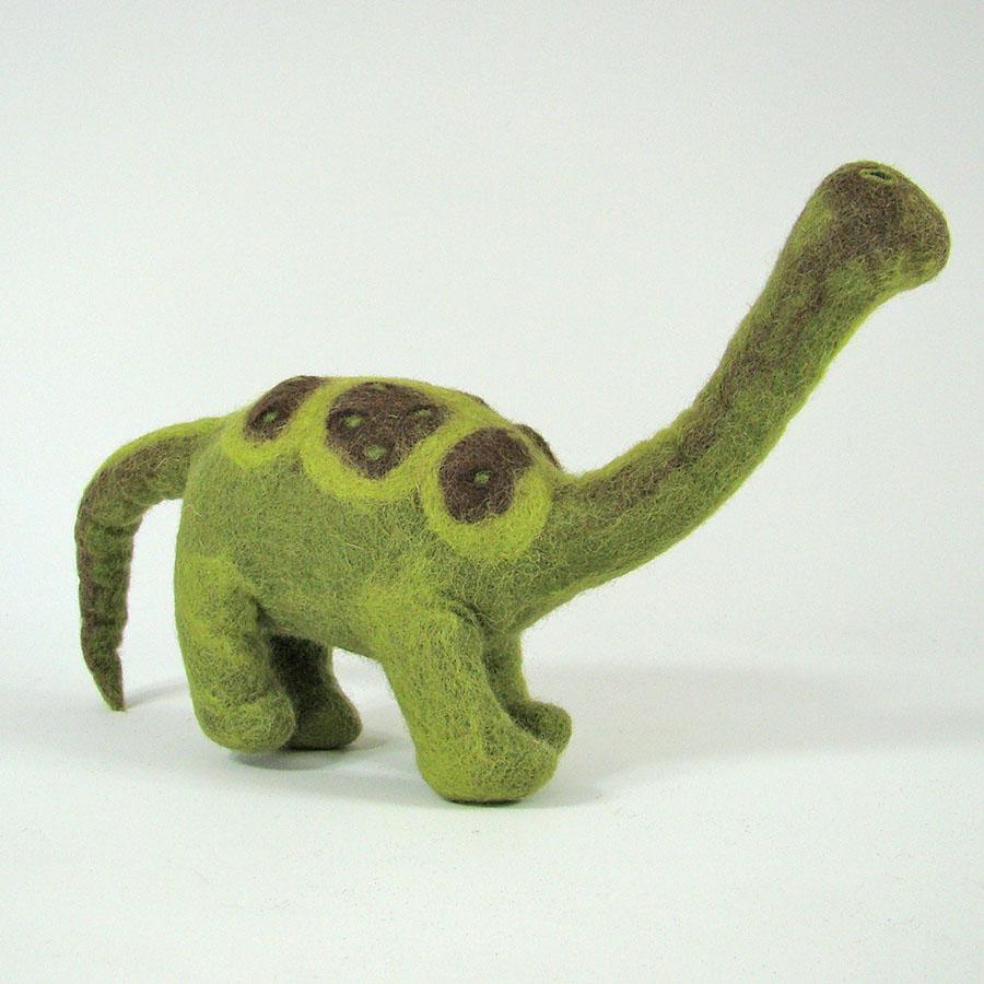 Monde des Dinosaures en laine feutrée - Pebbles le dinosaure