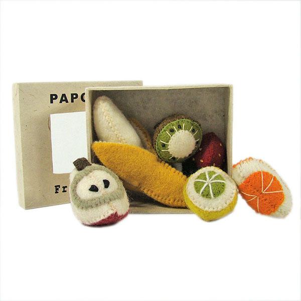 Mini fruits en laine feutrée - set de 6