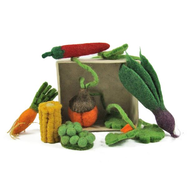 Mini légumes en laine feutrée - set de 6