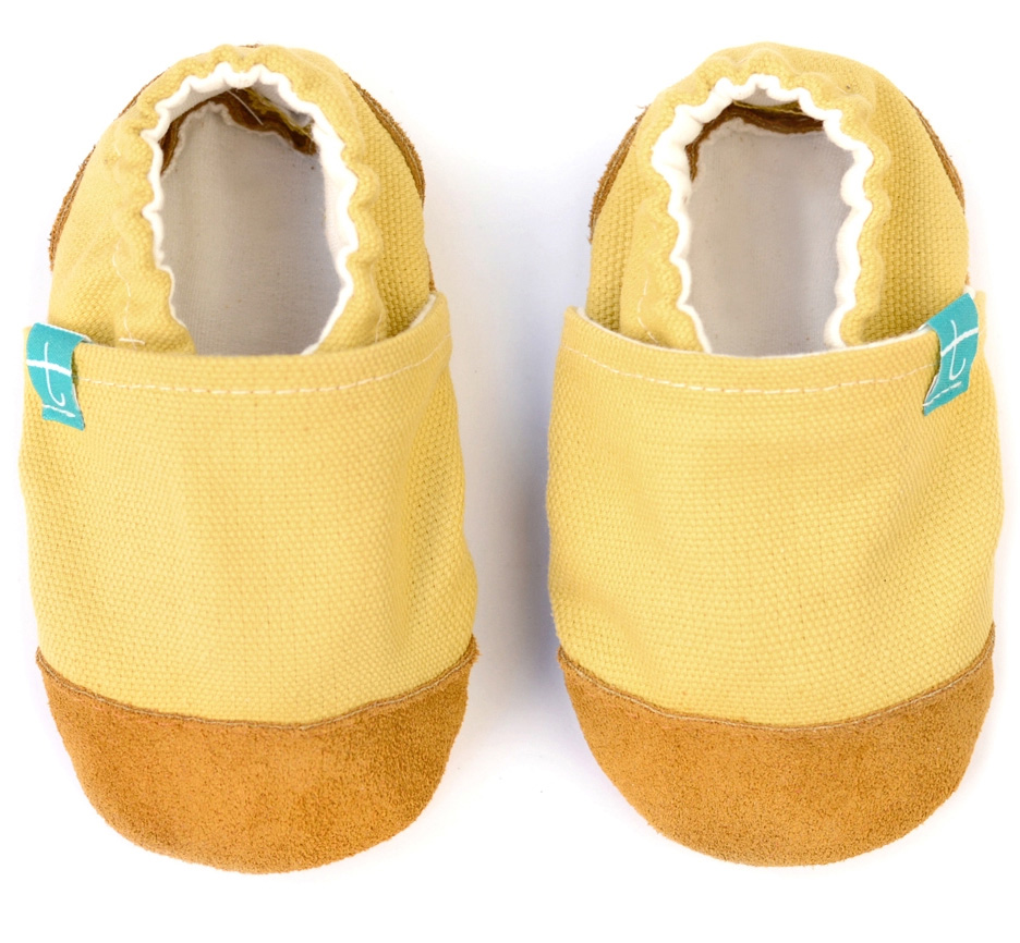 Chaussons souples bébé - collection cuir - Sunrise TITOT