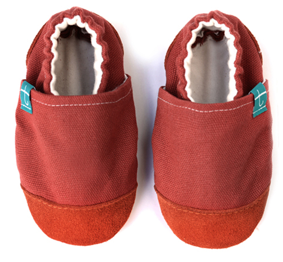 Chaussons souples bébé - collection cuir - Sunset TITOT