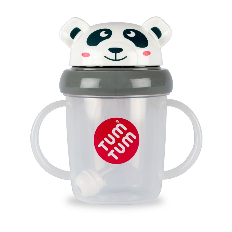 Tasse anti fuite + paille lestée Panda
